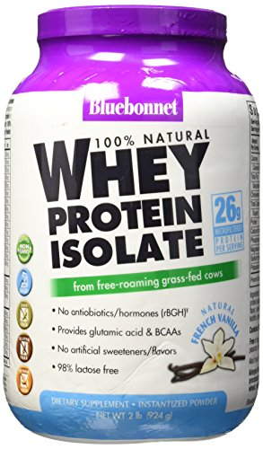 BlueBonnet 100% Natural Whey Protein Isolate Powder, French Vanilla, 2 Pound