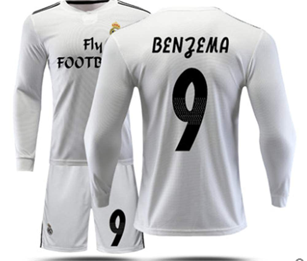 hot sale online a6ace 4e02f LISIMKE Real Madrid Home 9 Benzema Jersey 2018/2019 Men's ...