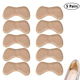 Heel foot care protection —Heel Protectors Back of Shoes Cushioned Adhesive Liner Inserts for Men and Women -5 Pairs (Skin)