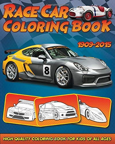 Race Car Coloring Book  30 High Quality Race Car Design For Kids Of All Ages