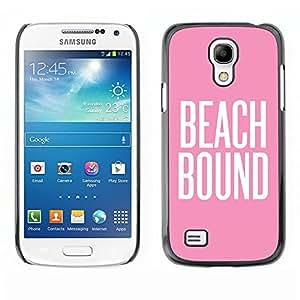 Caucho caso de Shell duro de la cubierta de accesorios de protección BY RAYDREAMMM - Samsung Galaxy S4 Mini i9190 MINI VERSION! - Pink White Text Summer