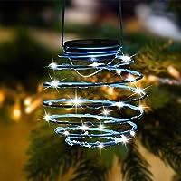 Roaming Light Solar Spiral LED Lanterns, Solar Garden Lights Outdoor Decorative Hanging Lights, Waterproof Pendant Light…