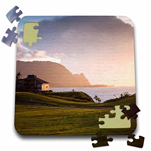 Princeville Golf - Danita Delimont - Golf Courses - Makai golf course in Princeville, Kauai, Hawaii, USA - US12 MWR0131 - Micah Wright - 10x10 Inch Puzzle (pzl_144284_2)