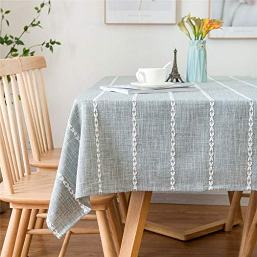 (Nordic Stripe Style Tablecloth Rectangular Coffee Restaurant Table Cloth Kitchen Dinning Table Cover Dining Home Decor)