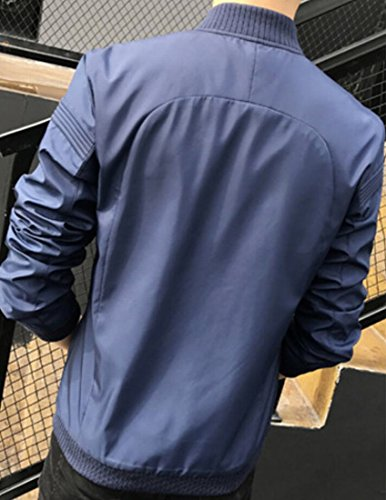 Slim Di Modo Cappotto W Fit Uomini M amp; Bomber Blu Baseball amp; Scuro S YqwWzxAR