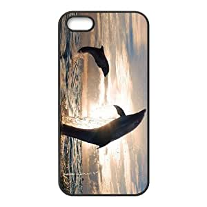Customized case Of Dolphin Hard Case for iPhone 5,5S