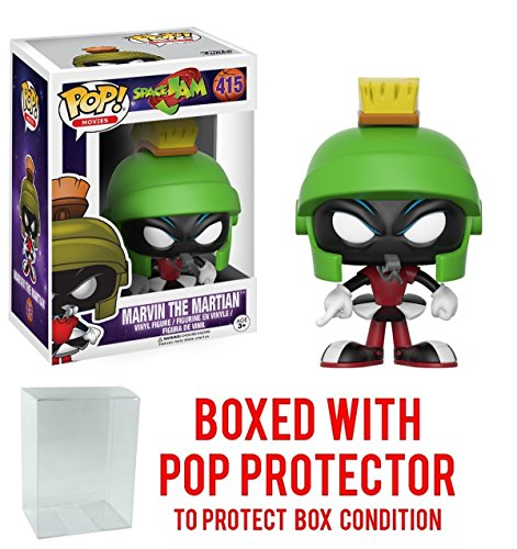 Funko POP Movies Space Jam Marvin the Martian with Free Pop Protector!