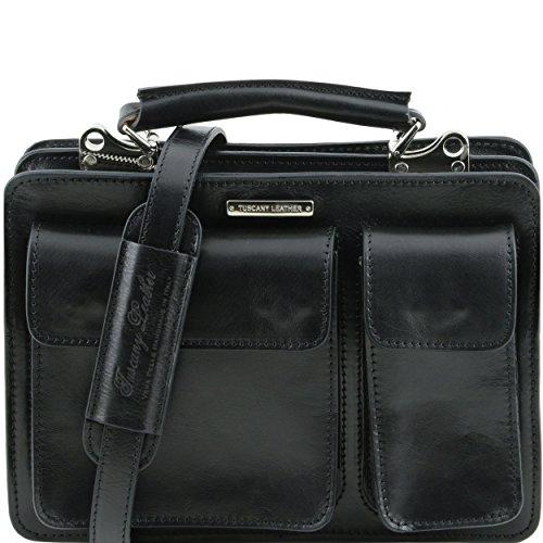 Tuscany Leather - Serviette cuir - Noir