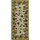 Safavieh Chelsea Collection HK116A Hand-Hooked Ivory Premium Wool Area Rug (2'6″ x 4′)