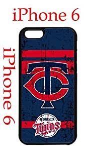 Minnesota Twins iPhone 6 4.7 Case Hard Silicone Case by runtopwell