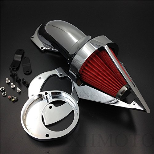 XKH- Replacement of Motor Triangle Air Cleaner Kits intake filter for Yamaha Vstar V Star 650 all year 1986 2012 CHROME new