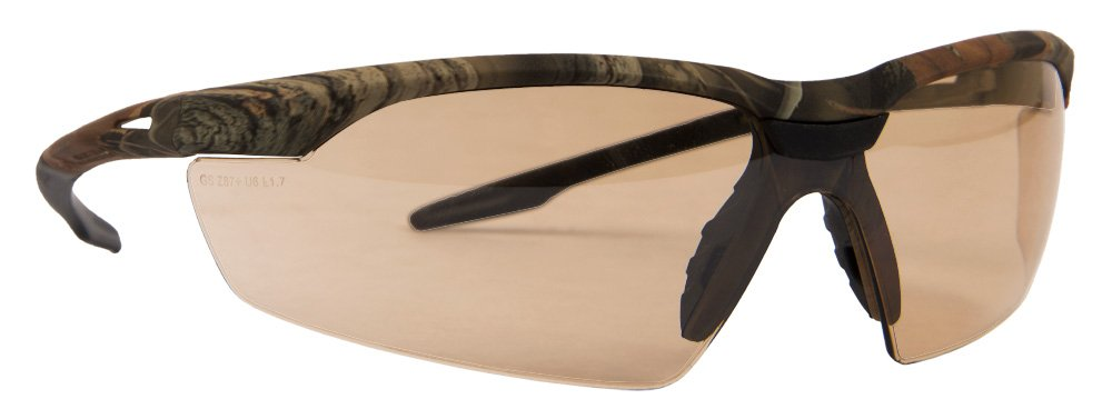 Forney 55438 Safety Glasses, Conqueror with Camo Frame, Bronze Mirror Lens