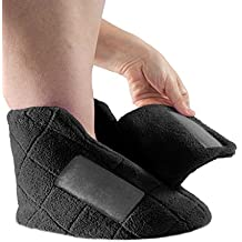 Extra Wide Swollen Feet Slippers - Soft Cozy Comfortable and Plush Bootie Slippers