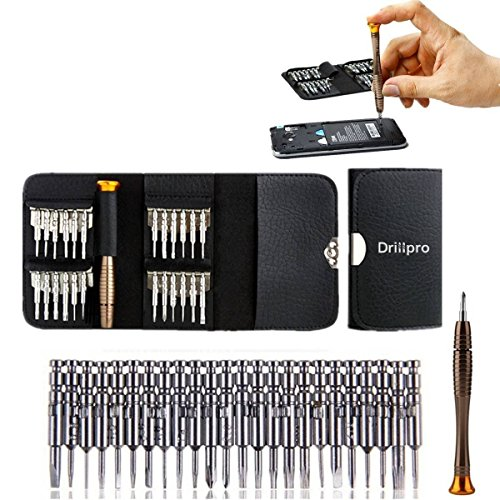 Precision Screwdriver Set 25 in 1,Drillpro,HRC52-60 Screwdriver Wallet Kit...