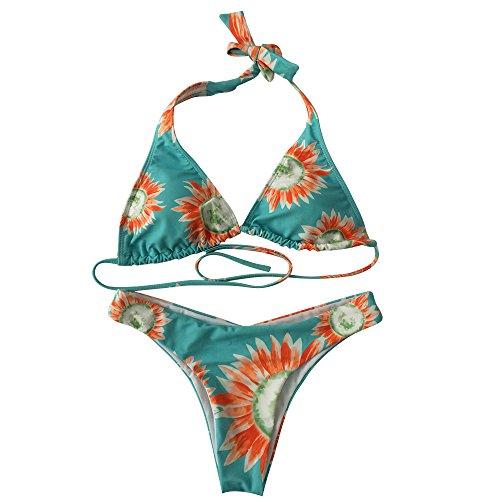 Bozevon Un Swimwear Monokini A Beachwear Vintage Bikini Costumi Stampa 3 Backless Donne Bagno Pezzo Da rHgUnrx4
