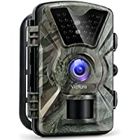 【Upgraded】Victure Trail Camera 1080P 12MP Wildlife Camera Motion Activated Night Vision 20m with 2.4' LCD Display IP66 Waterproof Design for Wildlife Hunting and Home Security