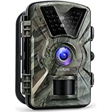"【Upgraded】Victure Trail Camera 1080P 12MP Wildlife Camera Motion Activated Night Vision 20m with 2.4"" LCD Display IP66 Waterproof Design for Wildlife Hunting and Home Security"