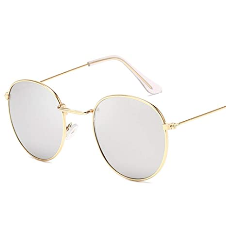 Yangjing-hl Gafas de Sol Redondas clásicas de aleación Gafas ...
