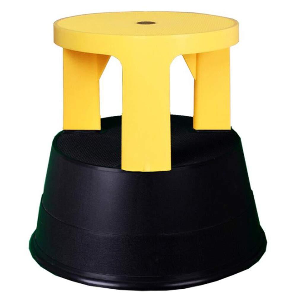D ZENGAI Stool Ladder Home Stool Anti-Slip Ascend Stool Safety Plastic, 7 colors (color   B)