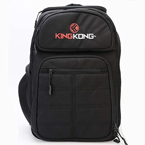 King Kong Fuel Meal Prep Backpack - Insulated Thermal Polyester Lunch Bag, Military Spec Nylon with Two Reusable Ice Packs - Black by King Kong (Image #4)