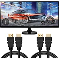 LG 34 Class 21:9 UltraWide Full HD IPS Game LED Monitor with Two HDMI Cables (34UM58-P) (Certified Refurbished)