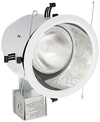 Lithonia Lighting LK5OAZ TRMW M6 Halogen Downlight Kit with Anodized Smooth Trim, 5-Inch, White