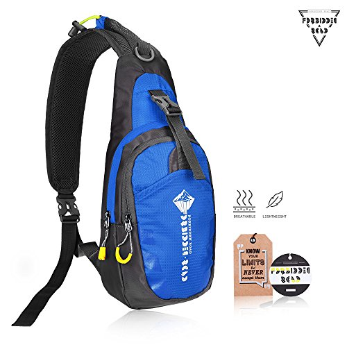 Forbidden Road Sling Bag Hiking Backpack Daypack Camping Shoulder Waterproof Nylon Durable Soft Foldable for Traveling Mountain Climbing Cycling Outdoor Activities - Multi Colors Mountain Nylon Backpack