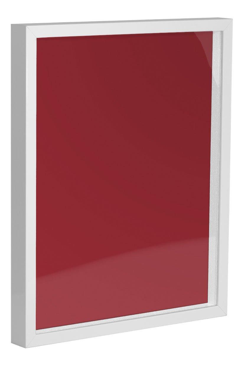 Objektrahmen FrameBox VARIO Weiß (matt) 60x90cm inklusive inklusive inklusive Einleger in Salsarot zum Einrahmen von Trikots, Blumen, Passepartouts etc. 0dba97