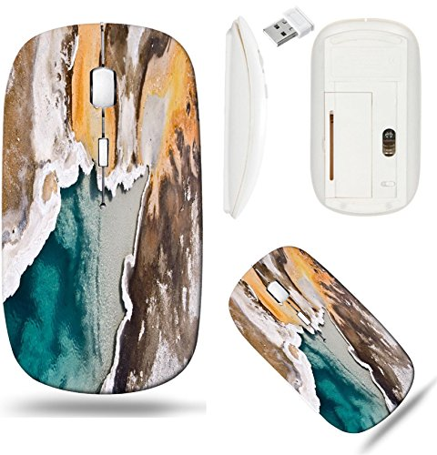 Liili Wireless Mouse White Base Travel 2.4G Wireless Mice with USB Receiver, Click with 1000 DPI for notebook, pc, laptop, computer, mac book IMAGE ID 33280495 Upper Geyser basin Yellowstone National ()