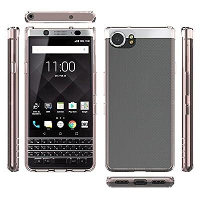 GBSEL Clear TPU Hard Back Phone Cover Case for BlackBerry Keyone DTEK70 Mercury