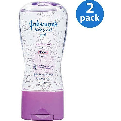 Johnson's - Lavender Baby Oil Gel, 6.5 oz, 2-Pac by Johnson's (Image #1)