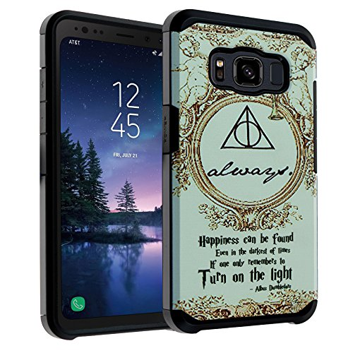 Galaxy S8 Active Case Harry Potter Deathly Hallows, DURARMOR Dual Layer Hybrid ShockProof Ultra Slim Fit Armor Air Cushion Defender Protector Cover for Galaxy S8 Active - Always