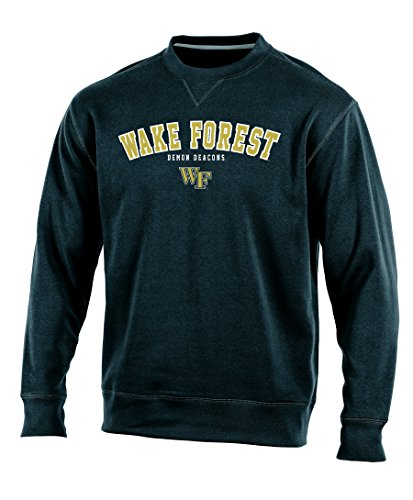 NCAA Wake Forest Demon Deacons Adult Men Crew Neck Fleece, Large, (Wake Forest Tailgate)