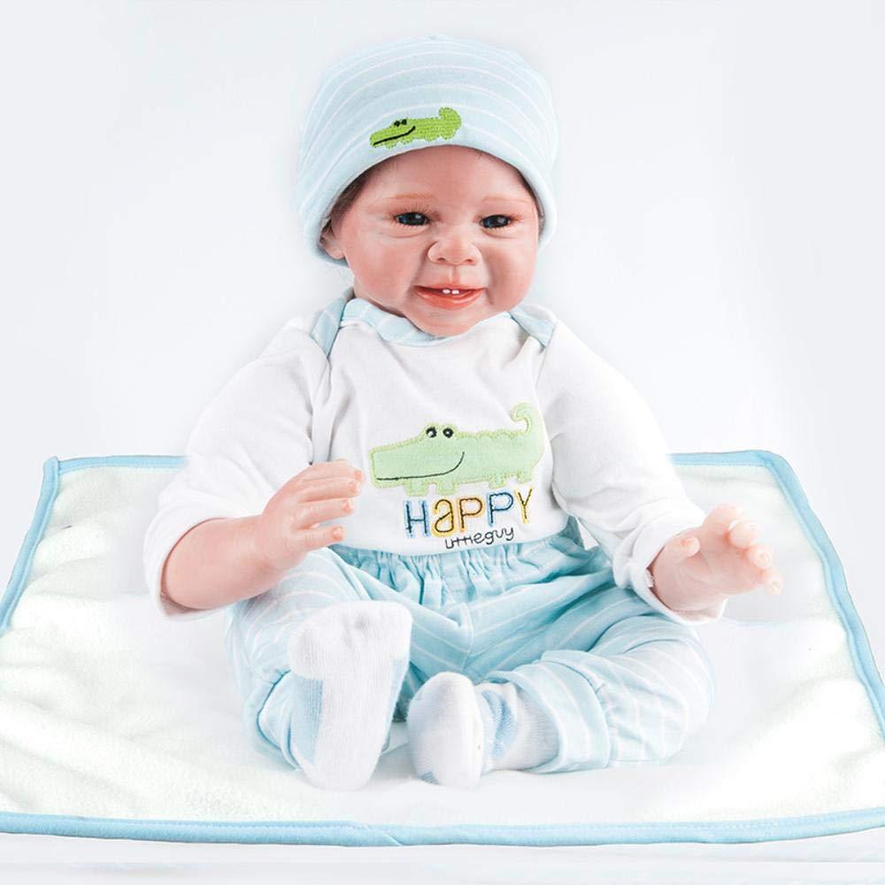 Hongge Reborn Baby Doll,Neugeborene Silikon Reborn Puppe Kinder Puppe Spielzeug 55cm