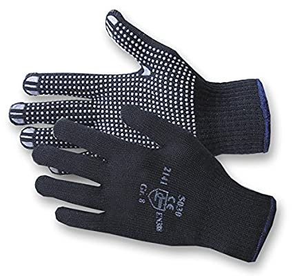 Jah 5030 Baumwolle/Polyester Strickhandschuh 12 Paar Noppen mittelschwer blau Gr. 10 JAH GmbH