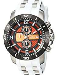 Invicta Mens Pro Diver Quartz Stainless Steel Casual Watch, Color:White (Model: 24964)