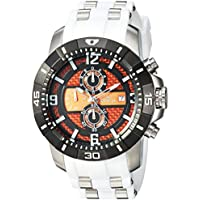 Men's 'Pro Diver' Quartz Stainless Steel Casual Watch, Color:White (Model: 24964)