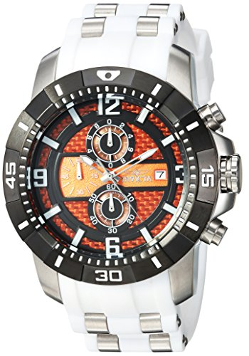 Invicta Men's 'Pro Diver' Quartz Stainless Steel Casual Watch, Color:White (Model: 24964) (55mm Band)