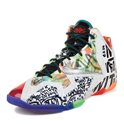 lebron shoes 14. nike mens lebron xi premiumwhat the black/lava/silver-galaxy blue synthetic basketball shoes size 14