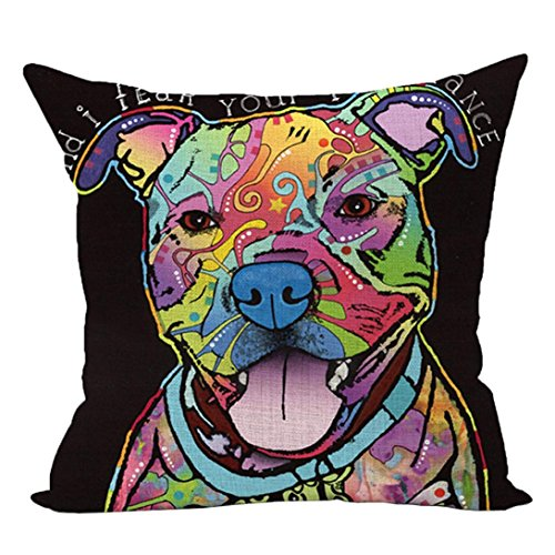 Cute Dog Printed Cushion Case,FimKaul Clearance 18''x18'' Square Gift Soft Sofa Bed Car Throw Home Decor Pillow Covers