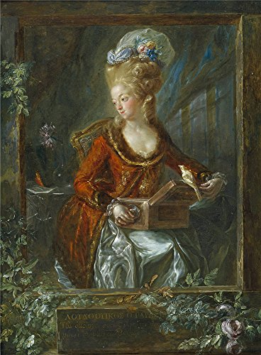 'Paret Y Alcazar Luis Maria De Las Nieves Micaela Fourdinier The Painter's Wife 1782 85 ' Oil Painting, 10 X 14 Inch / 25 X 35 Cm ,printed On High -