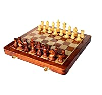 Christmas Gift/ Christmas Sale Chess Set Folding Magnetic Wooden Board Game 7 INCHES
