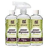 Grab Green Natural Power Degreaser Cleaner, Thyme with Fig Leaf, 16 Ounce