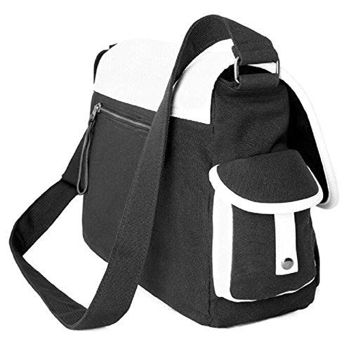 JUSTGOGO Casual Messenger Bag Crossbody Bag Shoulder Bag Travel Bag Handbag Tote Bag (1) by JUSTGOGO (Image #6)