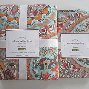 Amazon Com Pottery Barn Paloma Paisley Organic Duvet
