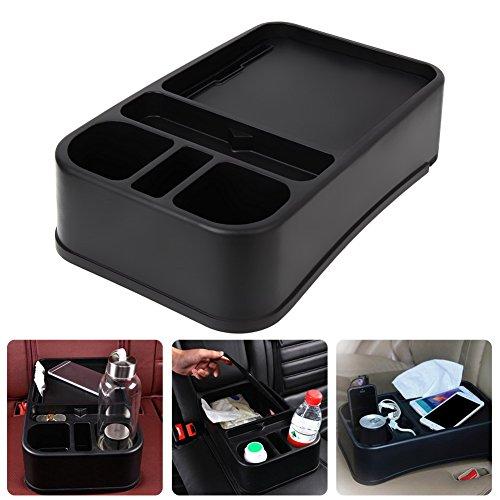 TTnight Multifunction Car Auto Seat Side Organizer Cup Holder Shelf Box Auto Supplies (Black)