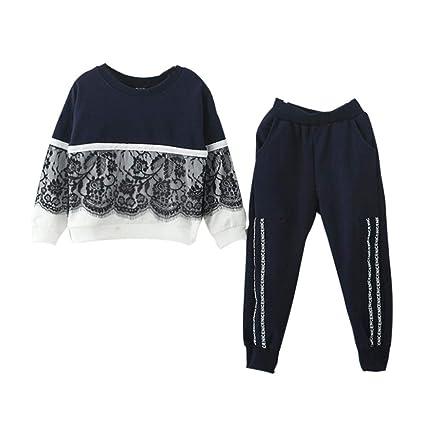 Bambina 18 Mesi Abbigliamento Completino Bambino Completini Per Bambini  Vestiti 0-24 Mesi Toddler Bambini Bambino Ragazza Pizzo Pullover Cime +  Pantaloni ... 5b6afddb620