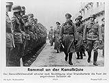 Photo: Rommel,Kanalküste,General Erwin,officers,inspecting troops,English Channel,1944