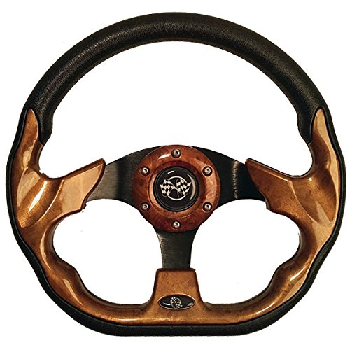 GTW Race Golf Cart Steering Wheel and Adapter - Choose from 5 Colors