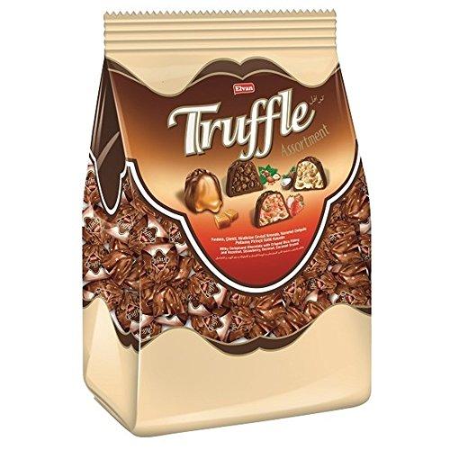 Elvan Truffle Assortment - Milky Compound Chocolate with Crisped Rice Filling and Hazelnut, Strawberry, Coconut, Caramel Cream (2 lbs 3.3oz) - 1 bag (Truffle Filling)